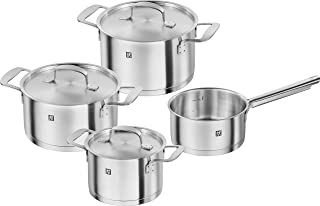 ZWILLING Base Cookware Set, Stainless Steel, Silver, 4-Piece