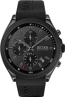 Hugo Boss Black Men'S Black Dial Black Silicone Watch - 1513720