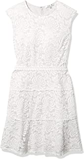 Sandra Darren Women's Extended Shoulder All Over Lace A-Line Dress