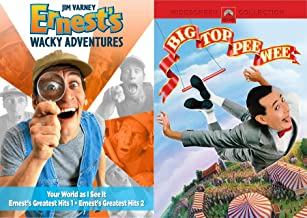Your Wacky World As I see It Ernest Pack + Big Top Pee-Wee Herman - Zany Adventures Guy Greatest Hits 2-DVD Bundle Double Feature Jim Varney Paul Reubens