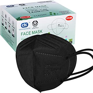FFP2/KN95 5-Layer Protective Face Mask, CE certified, Black (20pcs/box, each in individual pack)