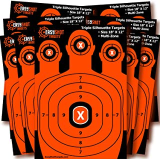 Silhouette Shooting Targets   High-Visibility Orange   Maximum Downrange Visibility   Bright and Colorful   150 Repair Stickers   Multi-Zone   Sturdy   Size 18