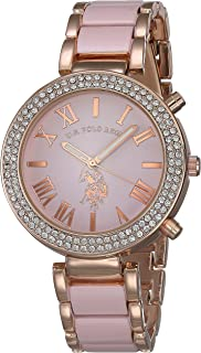 Women's Rose-Gold Stainless Steel Quartz Watch with Alloy...
