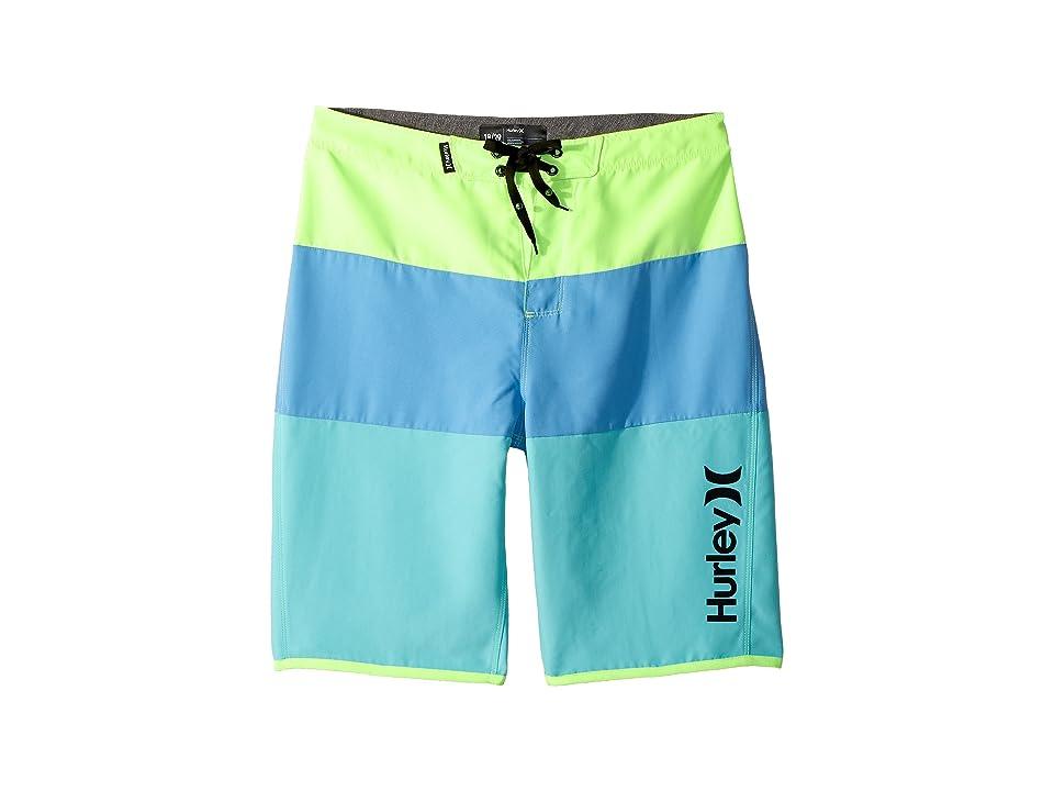 Hurley Kids Triple Threat Boardshorts (Big Kids) (Green Apple) Boy