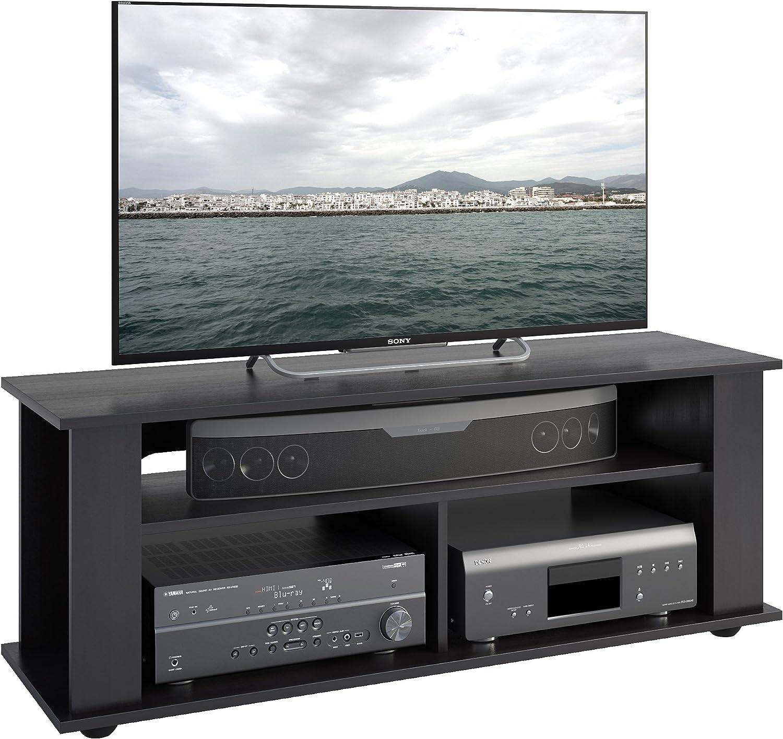 CorLiving TBF-604-B Bakersfield Ravenwood Black TV Component Stand