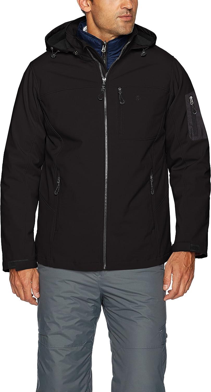 Izod mens 3-in-1 Soft-shell Systems Jacket Ski Jacket