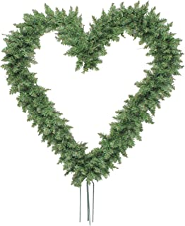 Northlight Pine Heart Shape Wreath with Ground Stakes, 22