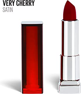 Maybelline New York Color Sensational Red Lipstick, Satin Lipstick, Very Cherry, 0.15 Ounce, 1 Count