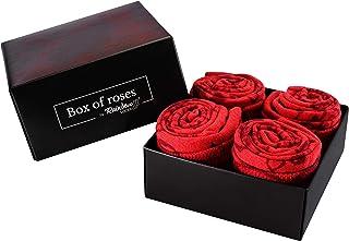 Rainbow Socks, Mujer Regalo Caja de Calcetines de Rosas - 2 Pares
