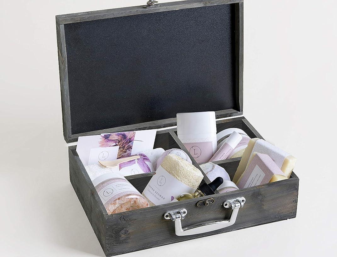 無礼にステレオいつでもNatural Spaギフトバスケット?–?Body Care in a木製ボックス?–?by lizush