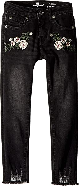 Ankle Skinny Stretch Denim Jeans in Vintage Noir (Big Kids)
