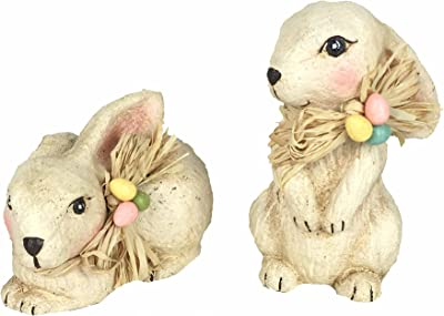 Craft Outlet Paper Mache Bunny (Set of 2), 6-Inch, Assorted