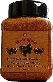 Guajillo Powder 10 oz El Molcajete Brand for Sauces, Salsa, Pasta, Chili, Meat, Pizza, Potatoes, Vegetables, Soups, Stews , Chicken and BBQ