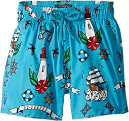 Tattoo Sashimi Swim Trunk (Toddler/Little Kids/Big Kids)