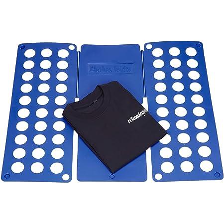 Relaxdays Tabla para Doblar la Ropa Grande, Azul, 0.2x58.8x70.1 cm