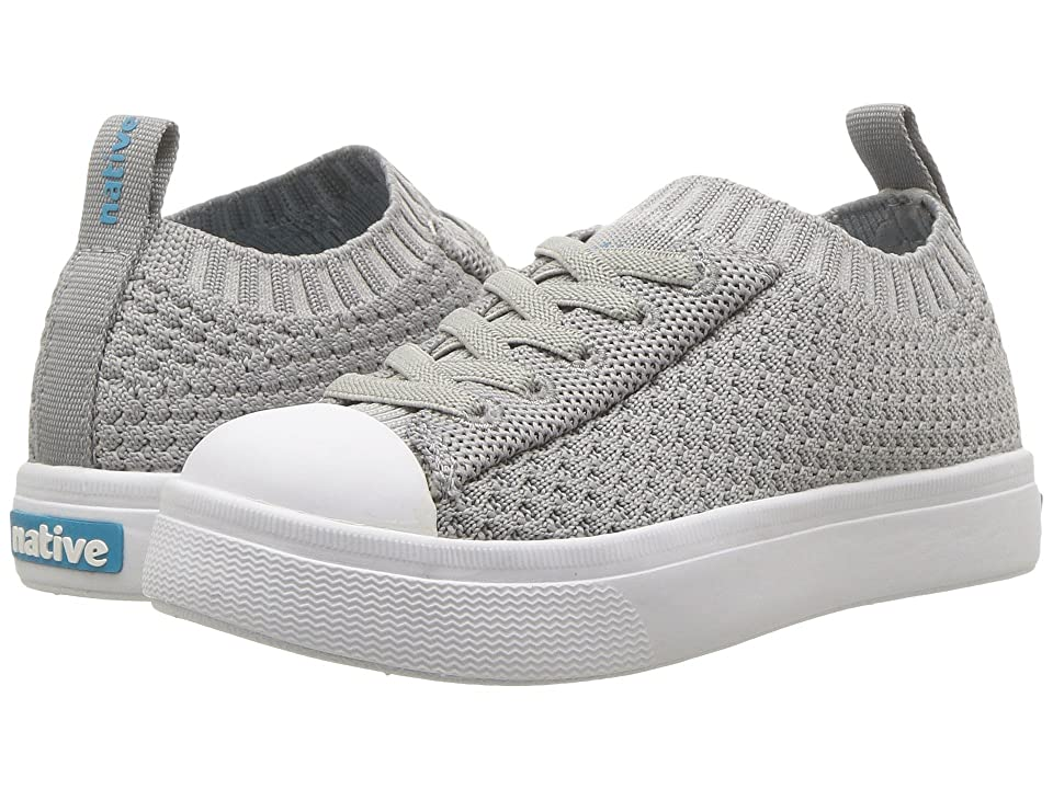 Native Kids Shoes Jefferson 2.0 Liteknit (Toddler/Little Kid) (Pigeon Grey/Shell White) Kids Shoes