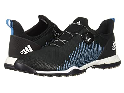 adidas Golf Forgefiber Boa (Core Black/Footwear White/Shock Cyan) Women