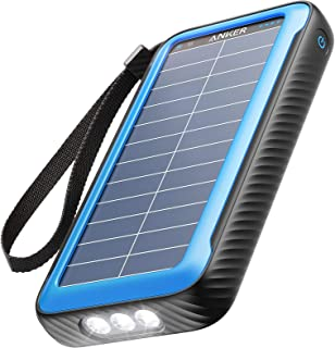Anker PowerCore Solar 20000 (ソーラーモバイルバッテリー 20000mAh 超大容量)【ソーラーチャージャー / 防塵/防水 / IP65対応 / フラッシュライト搭載 / USB-Cポート搭載 /PSE技術基準適...