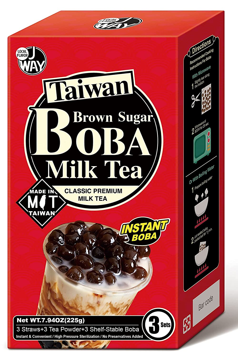 J WAY Instant Max 76% OFF Boba Bubble Pearl Trust Brow Authentic Kit with Milk Tea