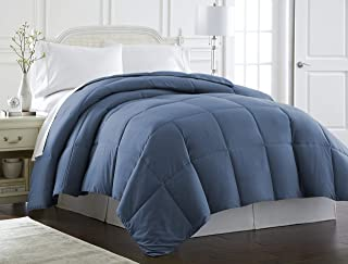 Spirit Linen Hotel 5Th Ave Milano Collection Luxurious Premier Quality Down Alternative Comforter, Full/Queen, Navy