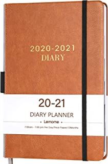 "2020-2021 Diary Planner/Appointment Book - 2020-2021 Hourly Planner 5-3/4"" x 8-1/2"", July 2020 - June 2021, Daily Planner with Monthly Tabs, Gift Box/Inner Pocket/Pen Loop/Banded/Bookmarks"