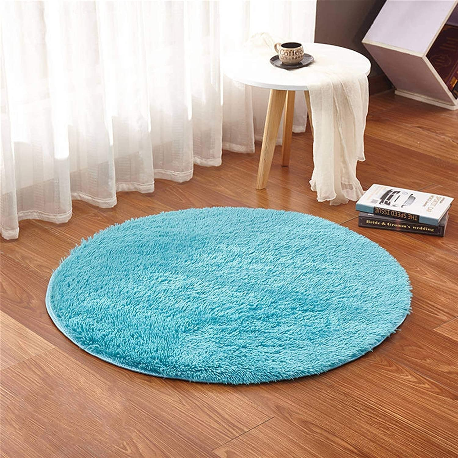 SHENYF-Hua Fluffy Round Rug Beauty products Carpets Solid San Diego Mall Area Chair Mat for
