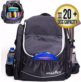 Athletico Power Shot Disc Golf Backpack | 20+ Disc Capacity | Pro or Beginner Disc Golf Bag | Unisex Design