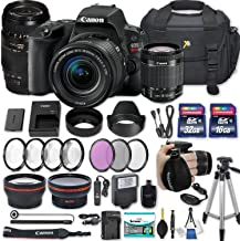 Canon EOS Rebel SL2 DSLR Camera with EF-S 18-55mm f/4-5.6 is STM Lens + 70-300mm f/4-5.6 Lens + 2 Memory Cards + 2 Auxiliary Lenses + HD Filters + 50