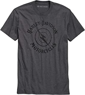HARLEY-DAVIDSON Official Men's Lightning Bolt Slim Fit Tee, Grey