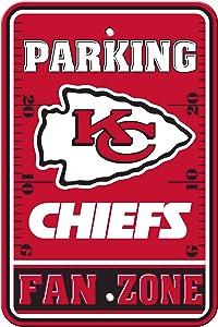 Fremont Die NFL Kansas City Chiefs Plastic Parking Sign