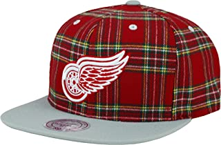 Mitchell & Ness NHL HAT Detroit RED Wings Plaid Snapback CAP