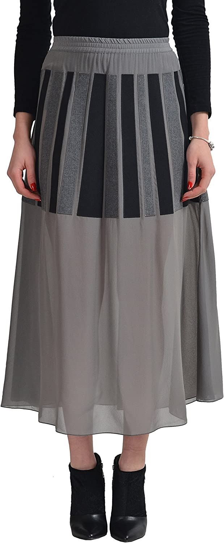 Viktor & Rolf Silk Multi-Color See Through Women's A-Line Skirt US S IT 40