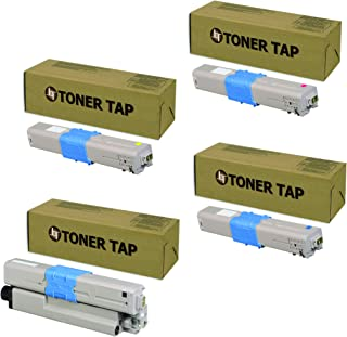 Toner Tap for OKI Okidata C332dn, MC363dn Compatible 46508704, 46508703, 46508702, 46508701 (4 Pack, KCMY)