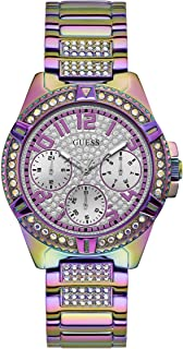 Women's Analog Watch with Stainless Steel Strap, Purple,...