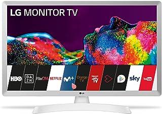 """LG - 28TN515S-PZ, Monitor Smart TV da 70 cm (28"""") con schermo LED HD (1366 x 768, 16:9, DVB-T2/C/S2, WiFi, 5 ms, 250 CD/m2, 5 M:1, Miracast, 10 W, 1 x HDMI 1.3, 1 x USB 2.0), colore bianco"""