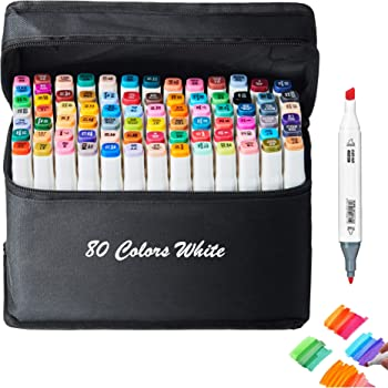 Artist Art Markers 40 Colors Alcohol Markers Adult Coloring and Illustration Bonus 1 Colorless Alcohol Marker Blender Typecho Double Tipped Sketch Markers for Kids