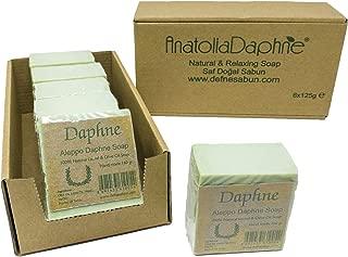 Aleppo Soap Bar - Handmade - 100% Pure Natural, Vegan with Olive Oil & Laurel, 5.6 oz Each Bar (6 Bars)