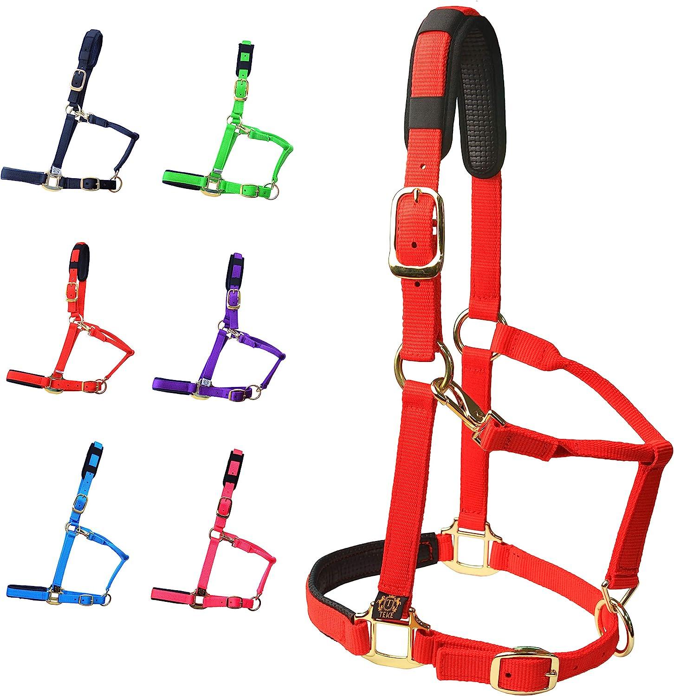 price TEKE Horse Halter Adjustable with safety Padding Cushioned