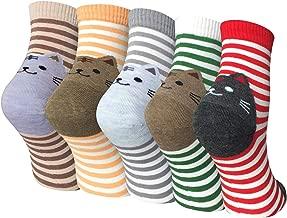 Chalier 5 Pairs Womens Funny socks Cozy Cute Printed Fun Socks Novelty Cat Socks for Women Gifts