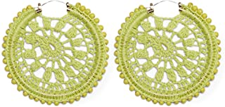 80mm Crochet and Beaded Hoops
