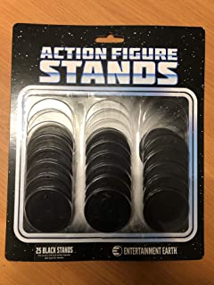 Action Figure Stand Pack of 25 Black Stands by Entertainment Earth