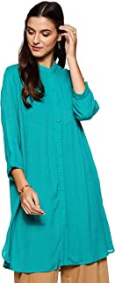 Women's Viscose & Jacquard Pleated Kurta