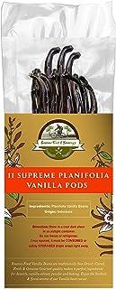 Essence Food & Beverage Grade A Vanilla Beans - 11 Plump Planifolia Vanilla Pods, Grade A Bulk, 100% Fresh Homemade Premiu...