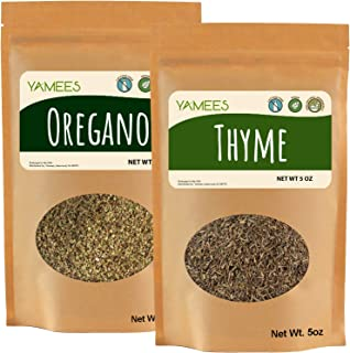 Sponsored Ad - Yamees Oregano Spice and Thyme Spice - Bulk Spices - 10 Ounce (5 Ounce Bags) - Dry Herbs - Bulk Herbs Leaves