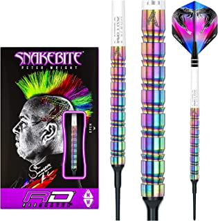 Red Dragon Peter Wright Snakebite 1 Soft-Tip - 18g - 90% Tungsten Steel Darts with Hardcore Flights, Shafts, Wallet & FREE Red Dragon Checkout Card