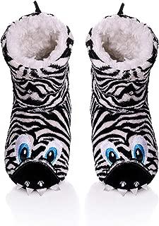 TRUEHAN Unisex 3D Cute Animal Lightweight Toddler Kids Bootie Slippers for Girls Boys Indoor/Outdoor Plush Soft Warm Non-Slip House Shoes