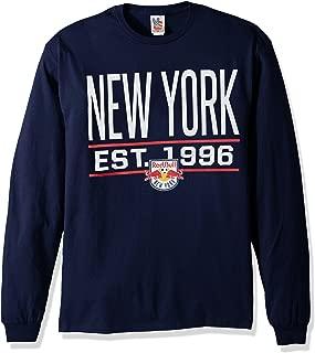 MLS New York Red Bulls Men's Long Sleeve Tee, Large, Anvy