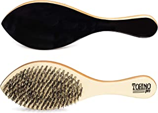 Torino Pro Hard Curve Brush By Brush King - #1630 - Patented Duet Collection-DIfferent color on each side - Great for wolfing and Connections - Curved brush for 360 Waves