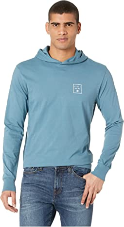Stacked Long Sleeve Hooded Shirt