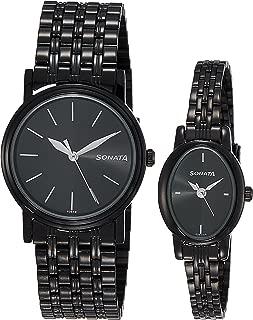 Sonata Analog Black Dial Unisex Watch-sonata-NK11418100NM01